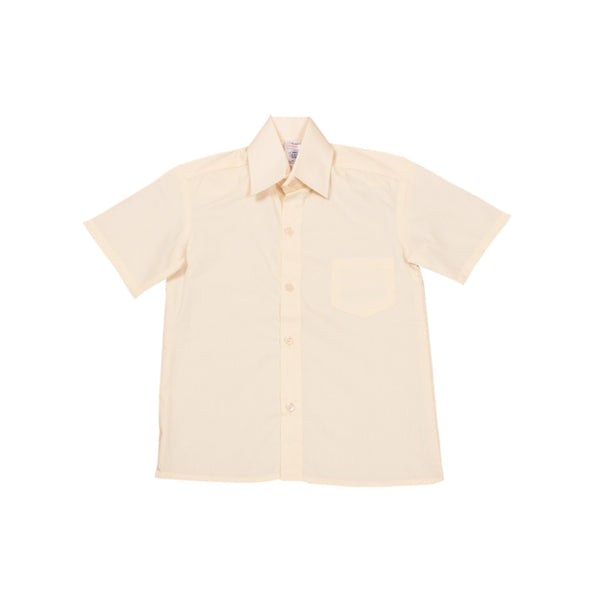 Buy-Shortsleeve Raised Collar Shirt - Cream-Age 5-Online-in South Africa-on Zalemart