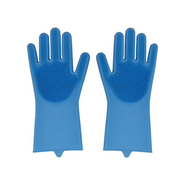 Silicone Kitchen Gloves - Blue - Zalemart