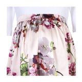 White and Pink Floral Maternity Dress - Zalemart