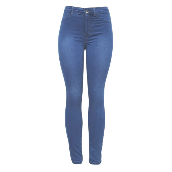 Buy-Women's High Rise Skinny Jeans | Stretch Denim | Blue-Dark Blue-Small-Online-in South Africa-on Zalemart