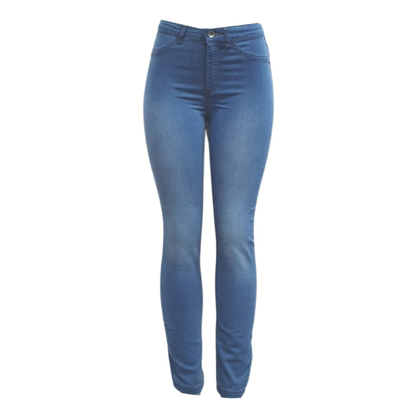 Buy-Women's High Rise Skinny Jeans | Stretch Denim | Blue-Light Blue-Small-Online-in South Africa-on Zalemart