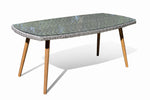 Fine Living - Seville Dining Set- Table with Glass - Zalemart