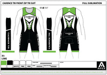 Load image into Gallery viewer, CADENCE TEAM TRI SUIT - FRONT ZIP