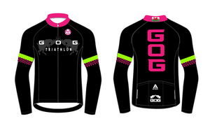 GOG PRO LONG SLEEVE AERO JERSEY - black