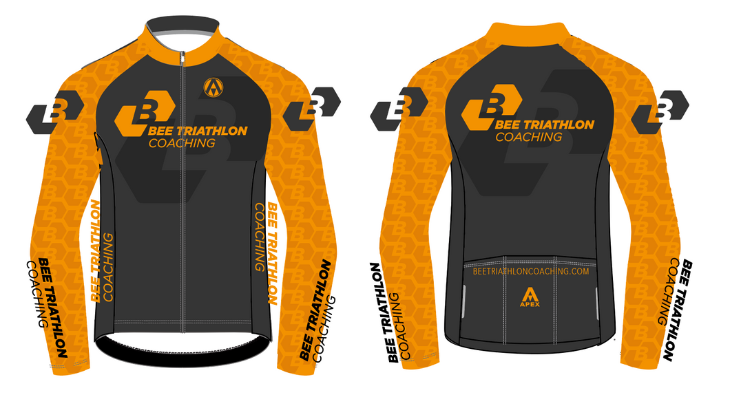 BEE TRI COACHING PRO LONG SLEEVE AERO JERSEY
