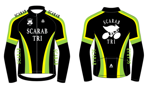 SCARAB TRI FLEECE JACKET - BLACK