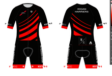 Load image into Gallery viewer, WIGAN HARRIERS TRI PRO ENDURANCE RACE SPEED TRI SUIT