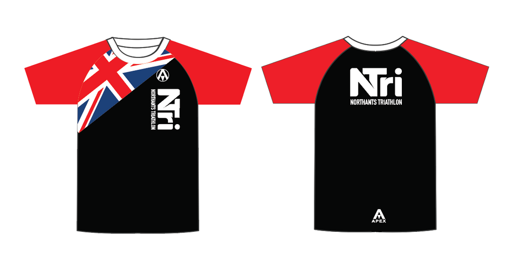 NORTHANTS TRI FULL CUSTOM T SHIRT