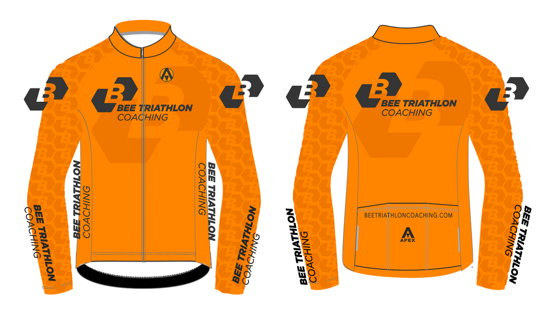 BEE TRI COACHING STELVIO WINTER JACKET -ORANGE DESIGN