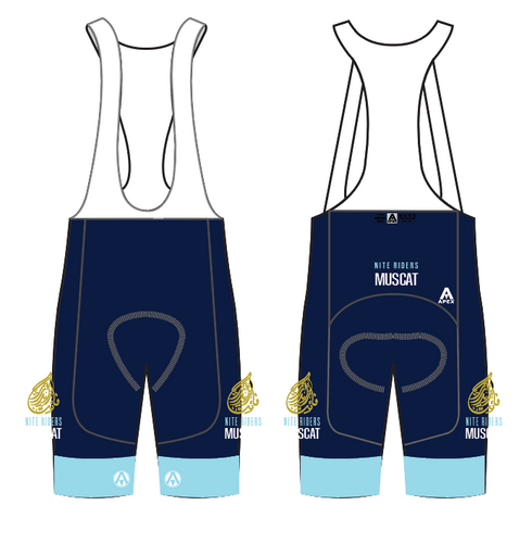 MUSCAT NITE RIDERS ELITE BIB SHORTS - NAVY