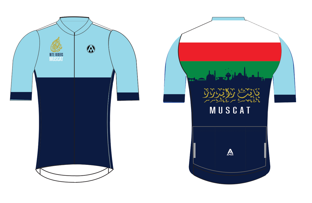 MUSCAT NITE RIDERS PRO SHORT SLEEVE JERSEY - D2