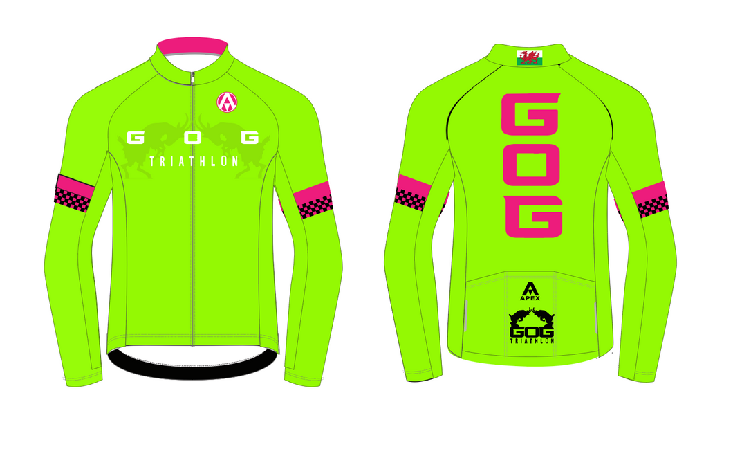 GOG PRO LONG SLEEVE AERO JERSEY - Green
