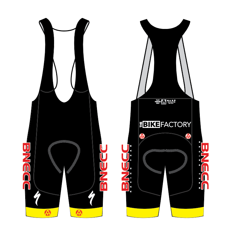 BNECC RACING TEAM ELITE BIB SHORTS