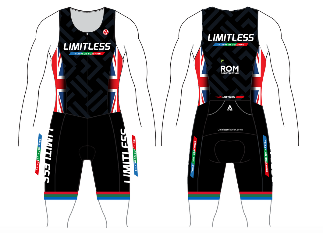 LIMITLESS TRI TEAM TRI SUIT - FRONT ZIP