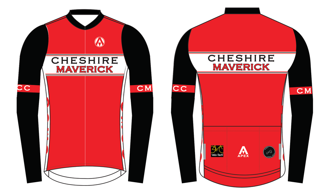 CHESHIRE MAVERICKS PRO LONG SLEEVE AERO JERSEY