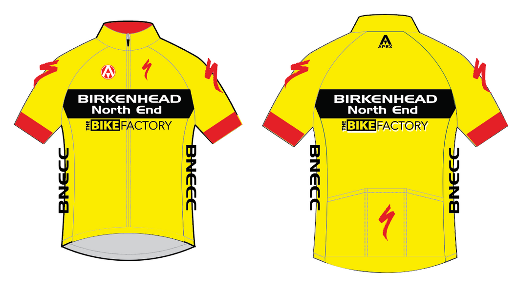 BNECC TEAM SS JERSEY - YELLOW
