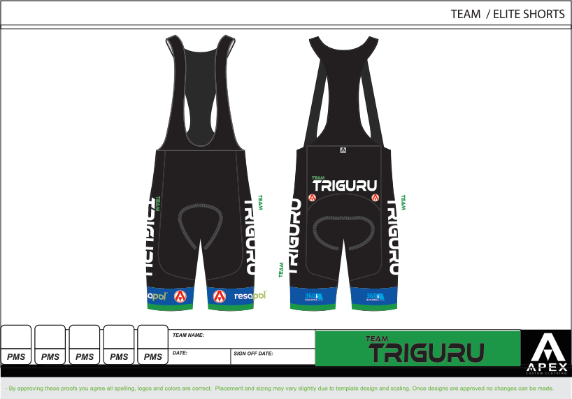 TRIGURU ELITE BIB SHORTS