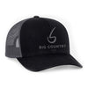 Big Country 6 Panel Retro Trucker - Black/Graphite