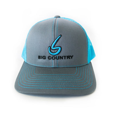 Big Country 6 Panel Retro Trucker - Graphite/Neon Blue