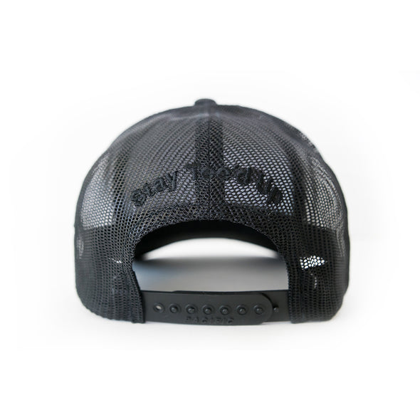 Big Country 6 Panel Retro Trucker - Black Heather/Black