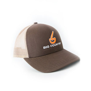 Big Country 6 Panel Retro Trucker - Brown/Khaki