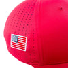 Perforated Performance Cap - USA Red