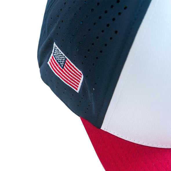 Perforated Performance Cap - USA Tri