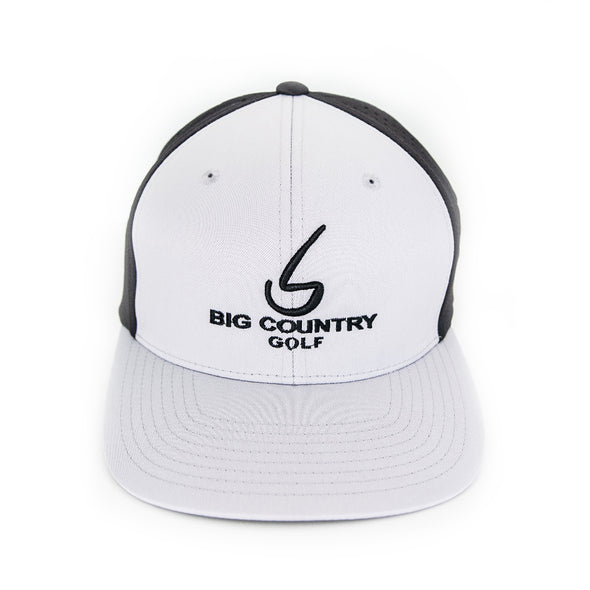 Big Country Perforated Performance Cap - Black/Silver