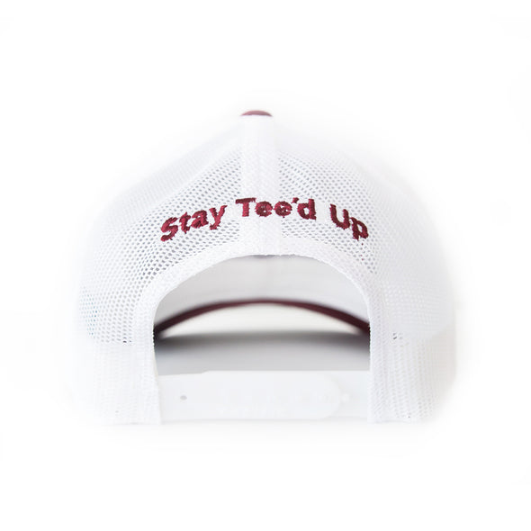 Big Country 6 Panel Retro Trucker - Maroon/White