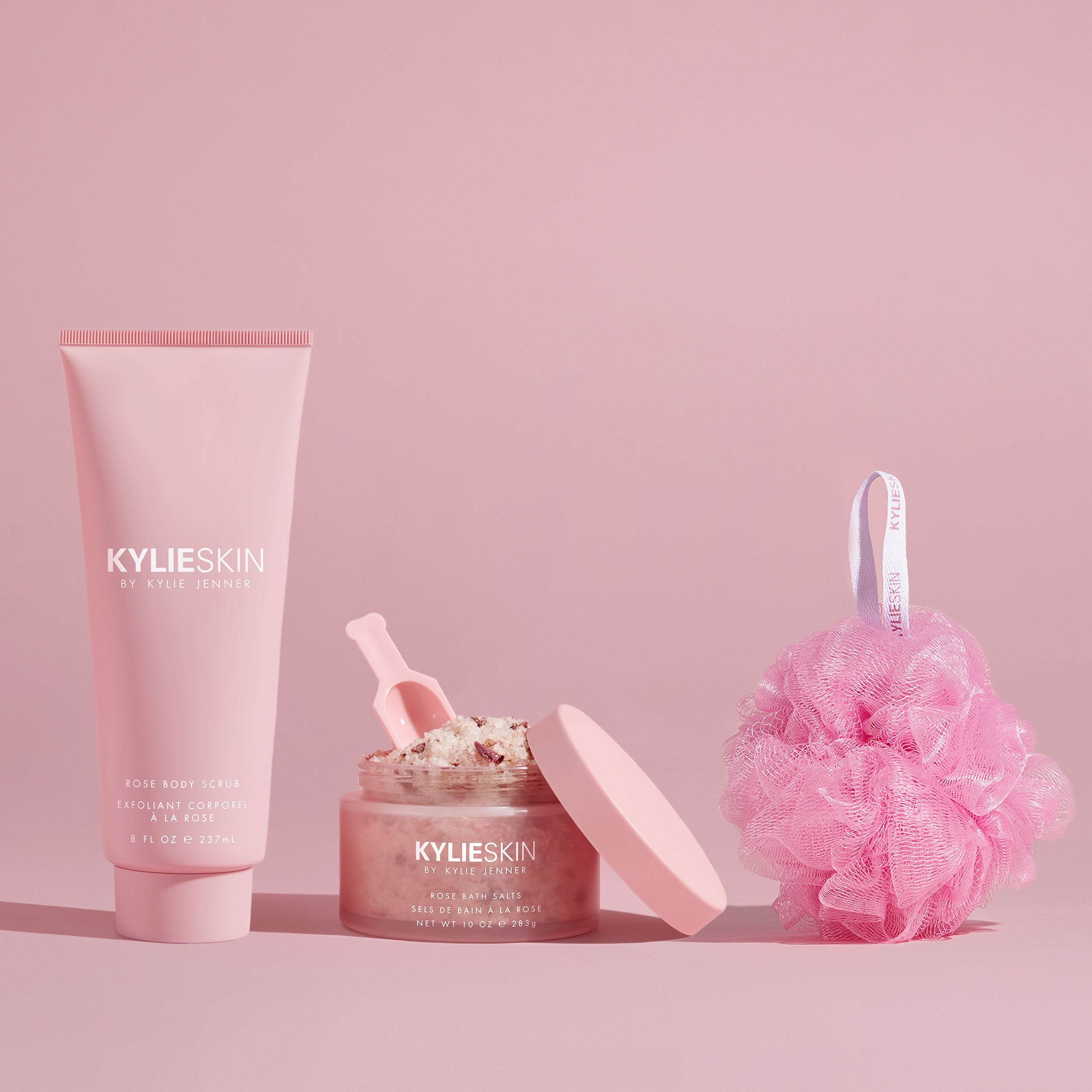 Rose Bath Duo with Loofah