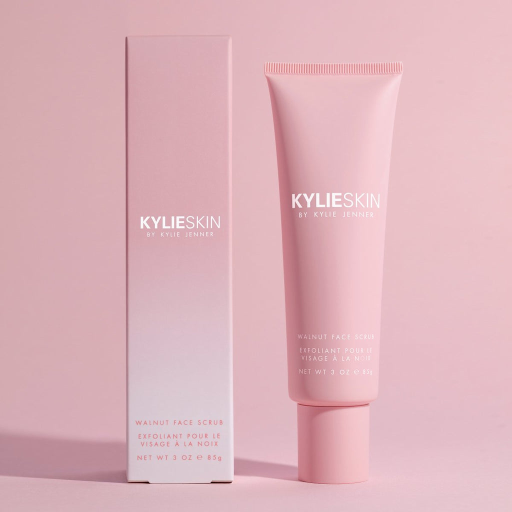 Kylie Skin Walnut Face Scrub package and product