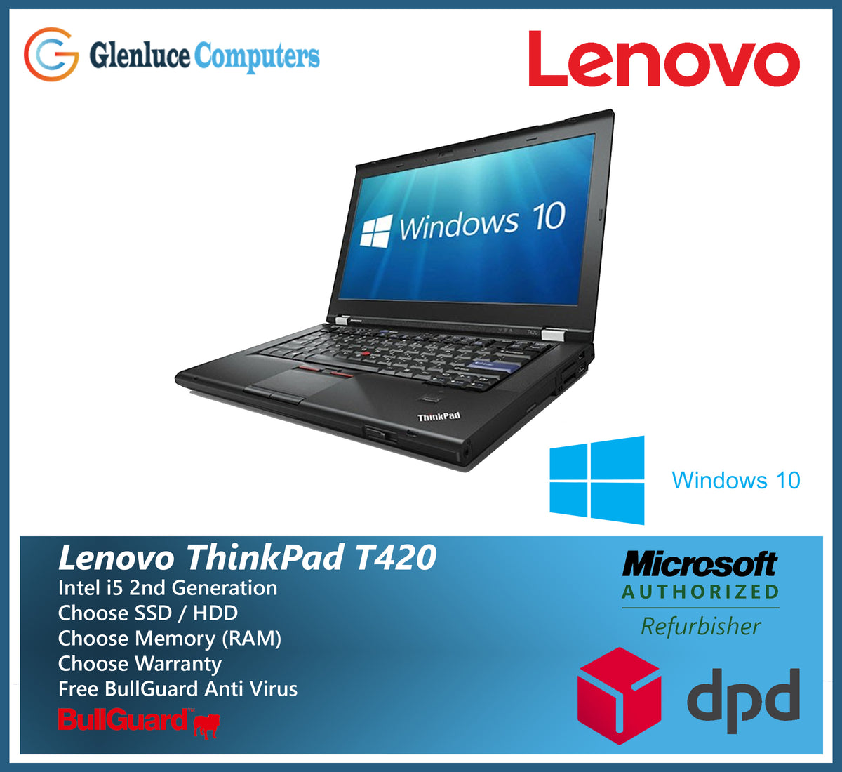 Lenovo ThinkPad Laptop T420 i5 Quad Core 4/8GB Ram 1TB or 480GBSSD HDD  Windows 10