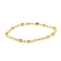 YELLOW DIAMOND STATION BRACELET