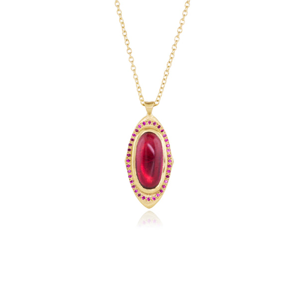 TOURMALINE & RUBY GRACE PENDANT