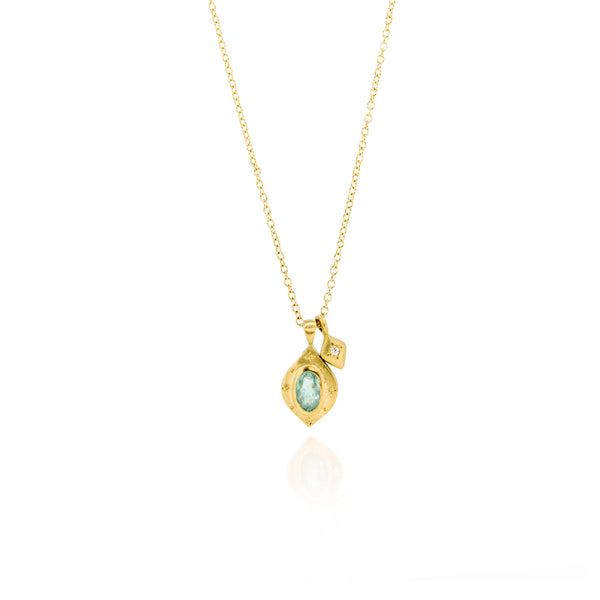 DROPS OF HAPPINESS OVAL WITH DIAMOND ACCENT CHARM