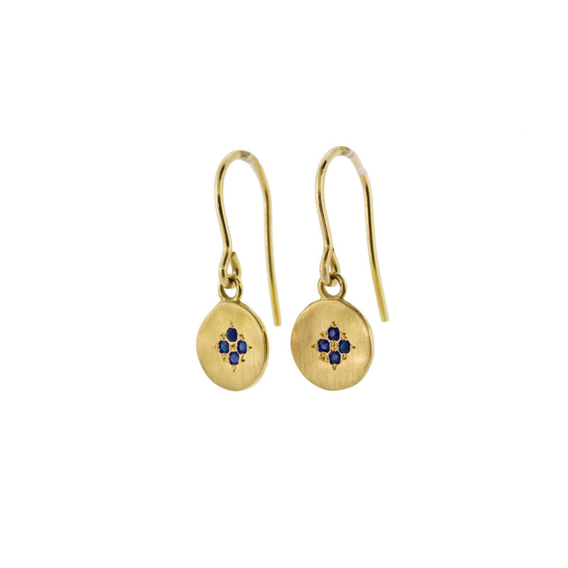 FOUR STAR WAVE CHARM EARRINGS