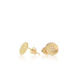 FOUR STAR WAVE CHARM STUDS