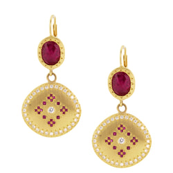 Nostalgia Ruby Drop Earrings