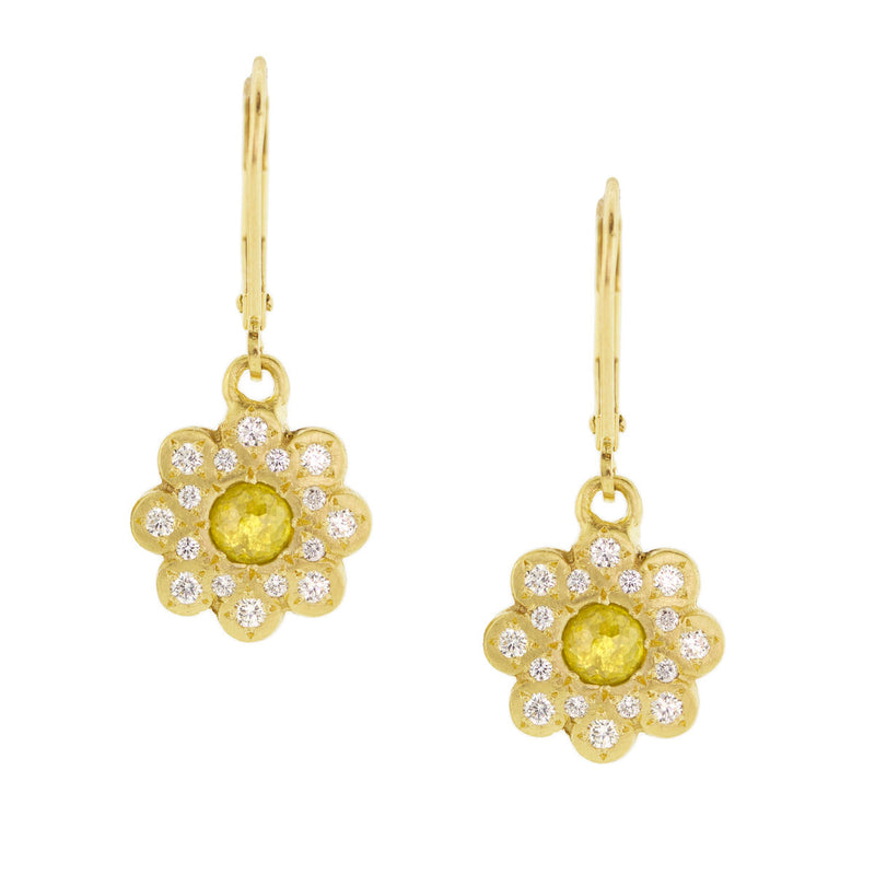 DIAMOND MOONFLOWER EARRINGS
