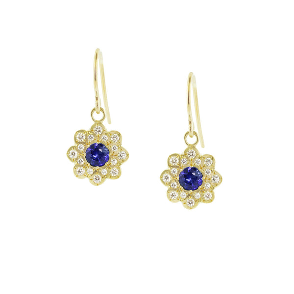 SAPPHIRE MOONFLOWER EARRINGS