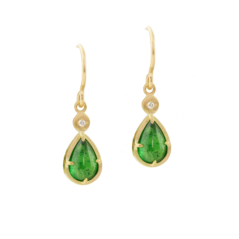 TSAVORITE DROP EARRINGS