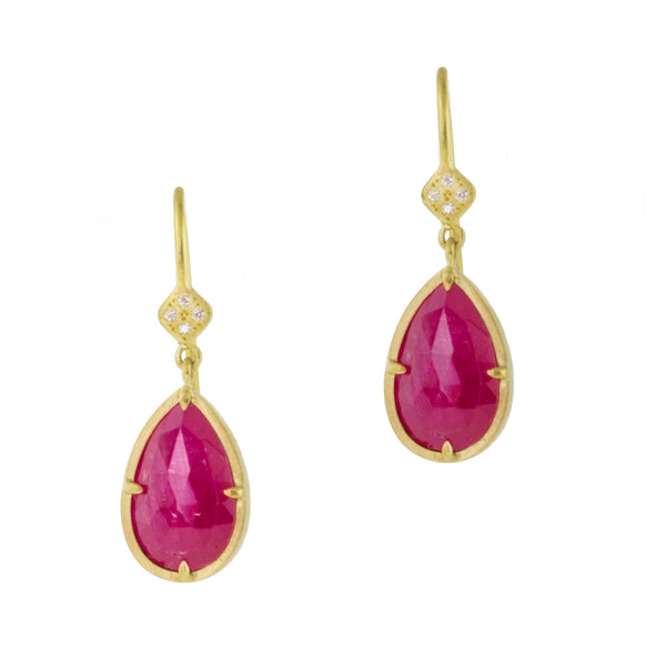 MOZAMBIQUE RUBY DROP EARRINGS
