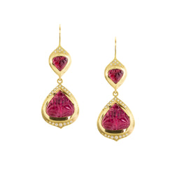 Rubellite Earrings
