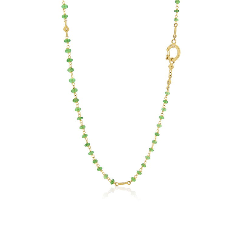 BEADED TSAVORITE NECKLACE