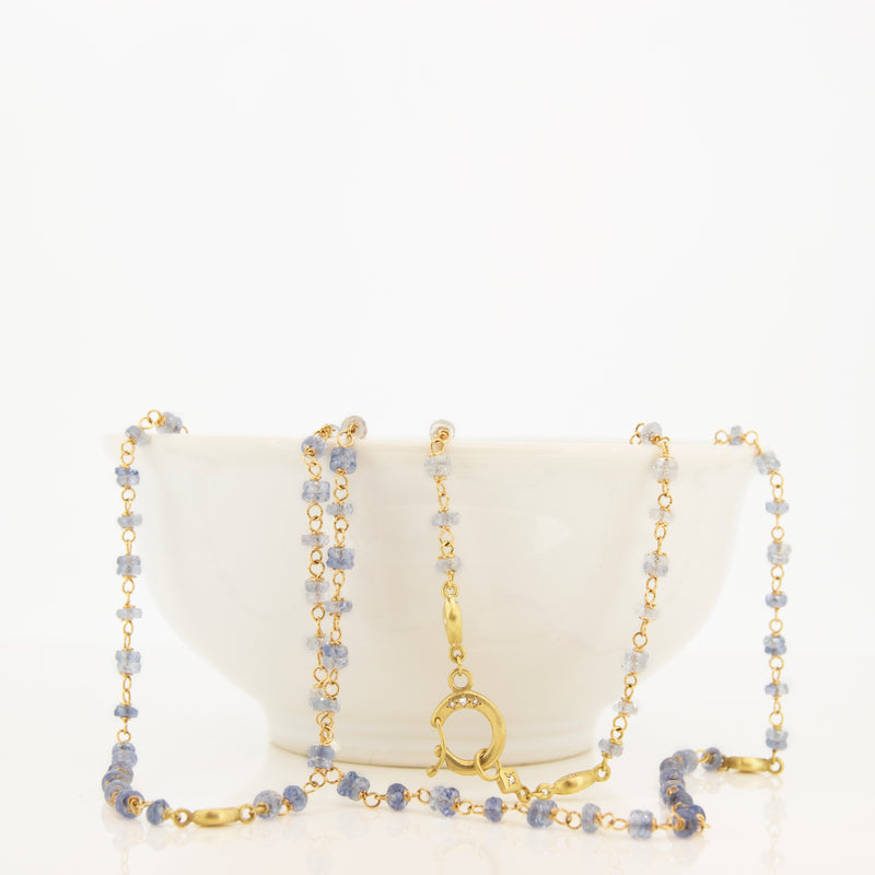 Light Sapphire Beaded Necklace