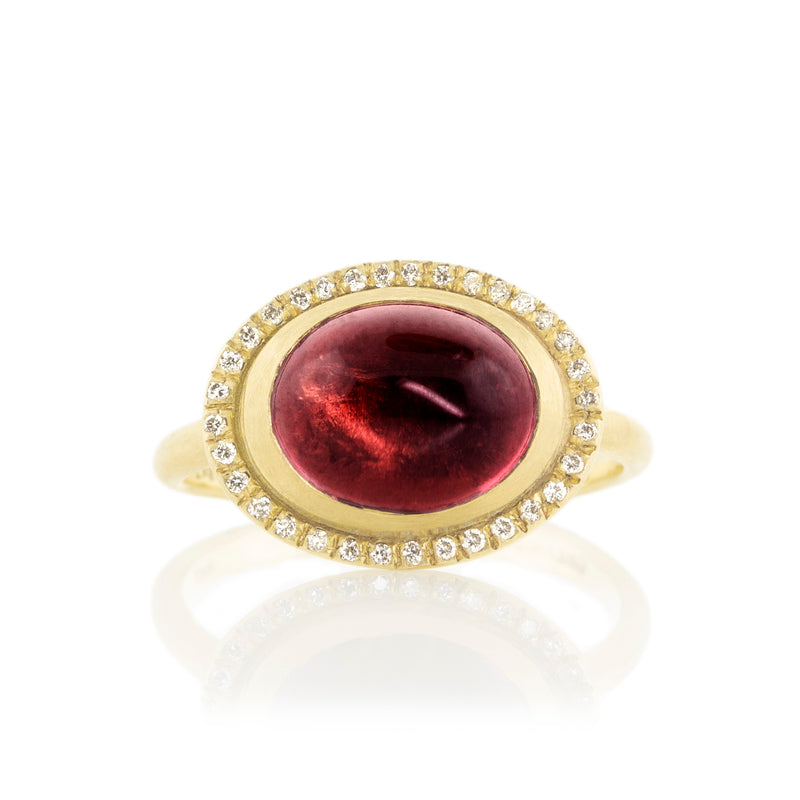 Cabochon Halo Ring