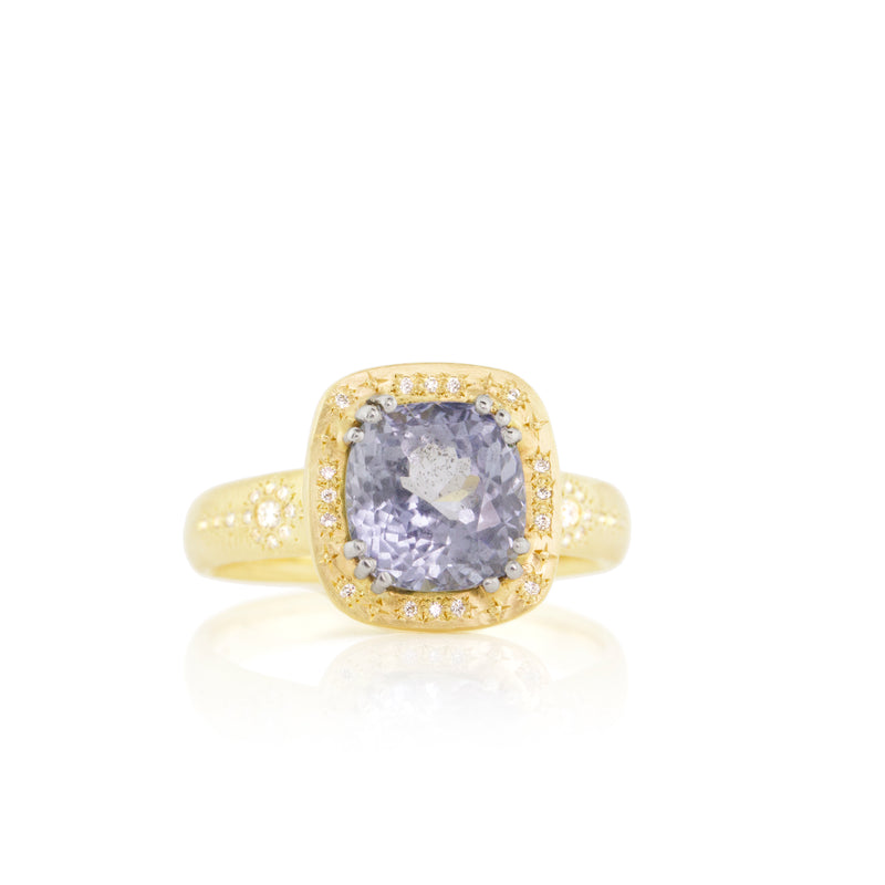 SHIMMER CUSHION SAPPHIRE RING