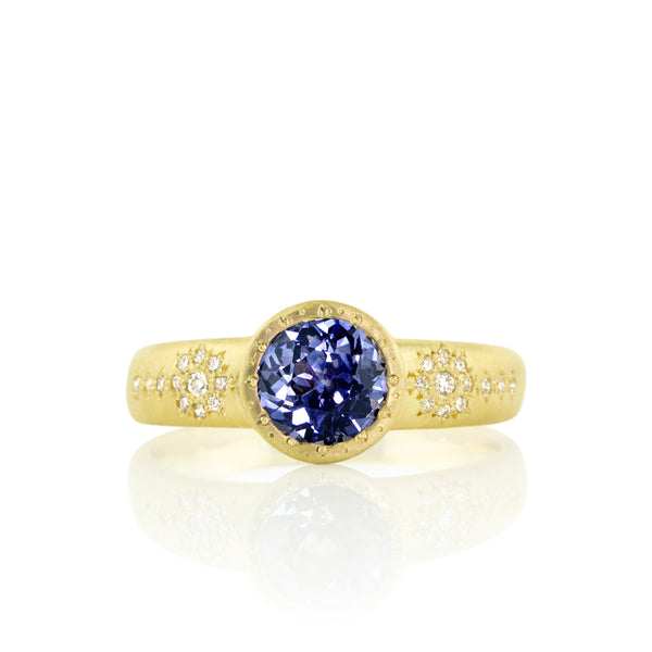 Tapered Shimmer Sapphire Ring