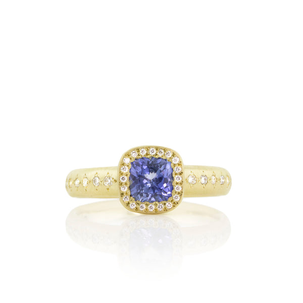 CUSHION SAPPHIRE SUCCESSION RING