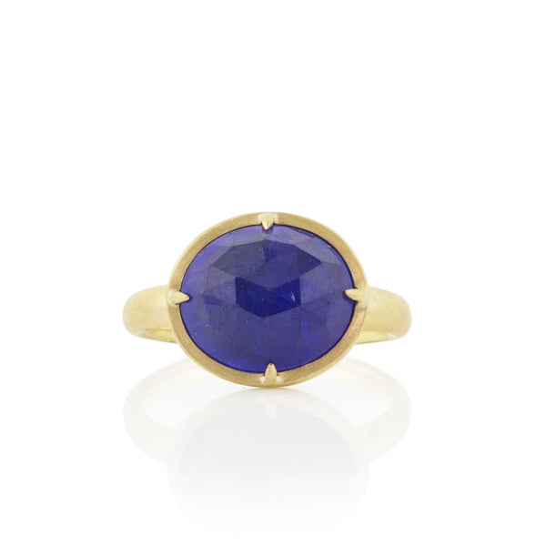 PRONG TANZANITE RING